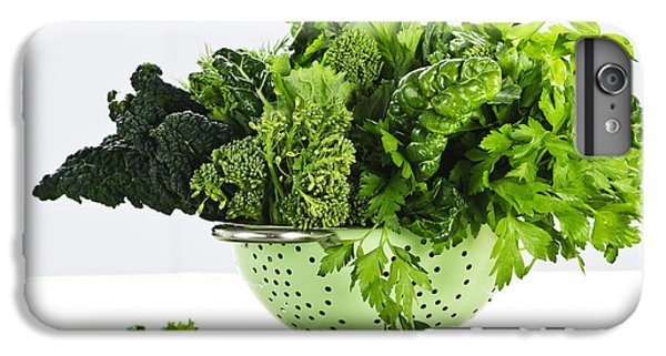Dark Green Leafy Vegetables In Colander IPhone 7 Plus Case by Elena Elisseeva
