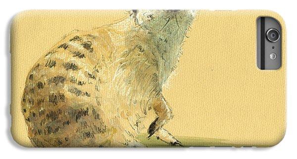 Meerkat Or Suricate Painting IPhone 7 Plus Case by Juan  Bosco