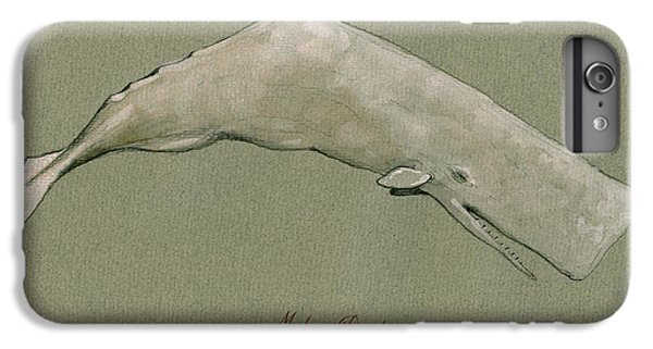 Moby Dick The White Sperm Whale  IPhone 7 Plus Case by Juan  Bosco