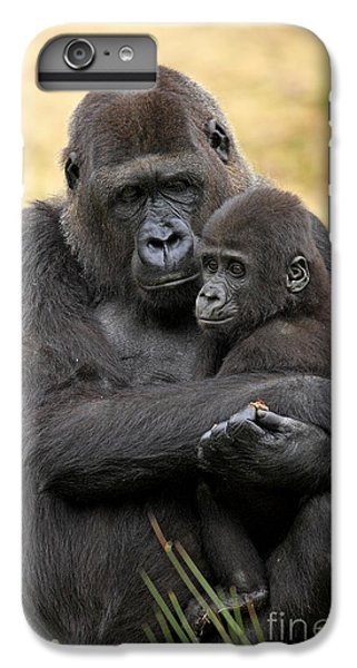Western Gorilla And Young IPhone 7 Plus Case by Jurgen & Christine Sohns/FLPA
