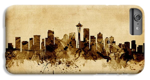 Seattle Washington Skyline IPhone 7 Plus Case by Michael Tompsett