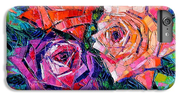 Abstract Bouquet Of Roses IPhone 7 Plus Case by Mona Edulesco