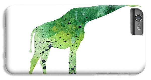 Abstract Green Giraffe Minimalist Painting IPhone 7 Plus Case by Joanna Szmerdt
