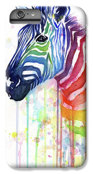 Rainbow Zebra - Ode To Fruit Stripes IPhone 7 Plus Case by Olga Shvartsur