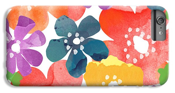Big Bright Flowers IPhone 7 Plus Case by Linda Woods