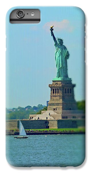 Big Statue, Little Boat IPhone 7 Plus Case by Sandy Taylor
