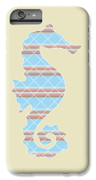 Blue Stripe Pattern Aged IPhone 7 Plus Case by Christina Rollo