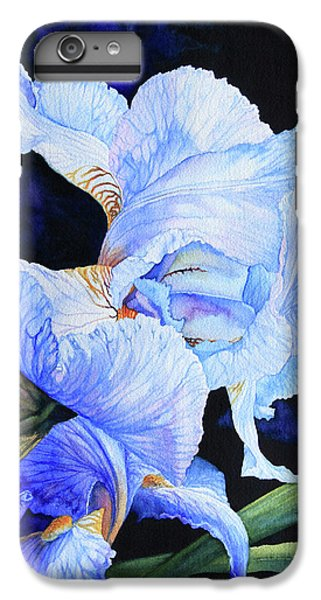 Blue Summer Iris IPhone 7 Plus Case by Hanne Lore Koehler