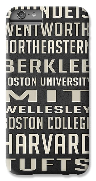 Boston Colleges Poster IPhone 7 Plus Case by Edward Fielding