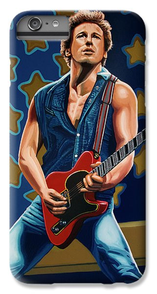 Bruce Springsteen The Boss Painting IPhone 7 Plus Case by Paul Meijering