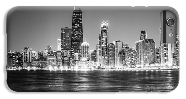 Chicago Lakefront Skyline Black And White Photo IPhone 7 Plus Case by Paul Velgos