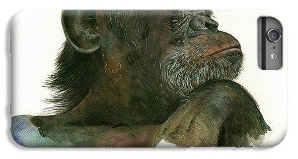 Chimp Portrait IPhone 7 Plus Case by Juan Bosco