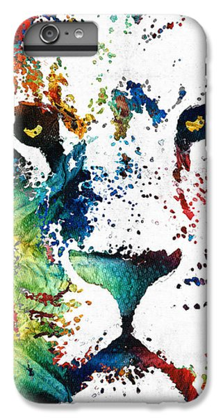 Colorful Lion Art By Sharon Cummings IPhone 7 Plus Case by Sharon Cummings