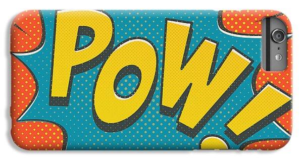 Comic Pow IPhone 7 Plus Case by Mitch Frey