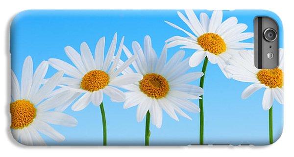 Daisy Flowers On Blue IPhone 7 Plus Case by Elena Elisseeva