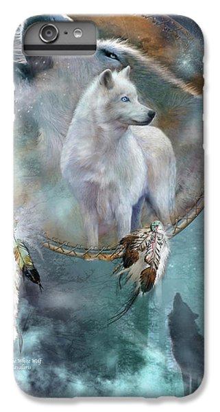 Dream Catcher - Spirit Of The White Wolf IPhone 7 Plus Case by Carol Cavalaris