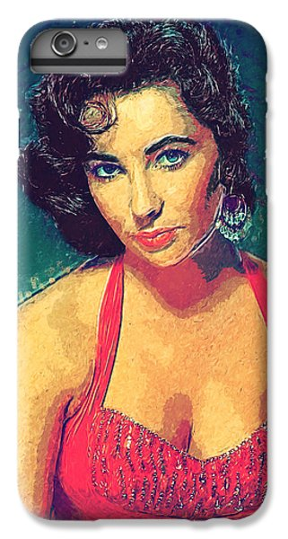 Elizabeth Taylor IPhone 7 Plus Case by Taylan Apukovska