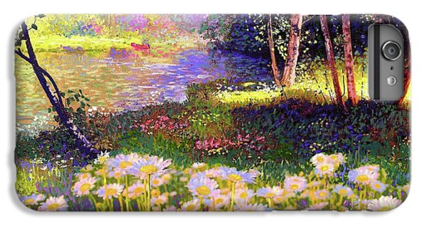 Enchanted By Daisies, Modern Impressionism, Wildflowers, Silver Birch, Aspen IPhone 7 Plus Case by Jane Small