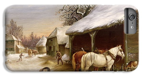 Farmyard In Winter  IPhone 7 Plus Case by Henry Woollett