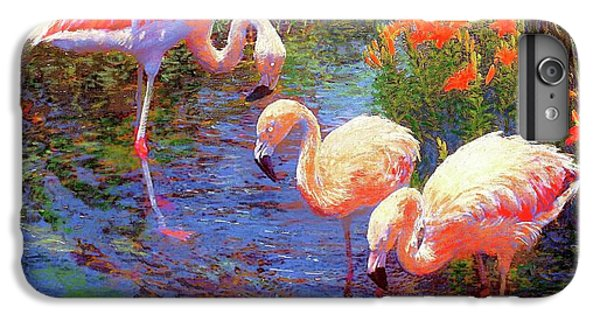 Flamingos, Tangerine Dream IPhone 7 Plus Case by Jane Small