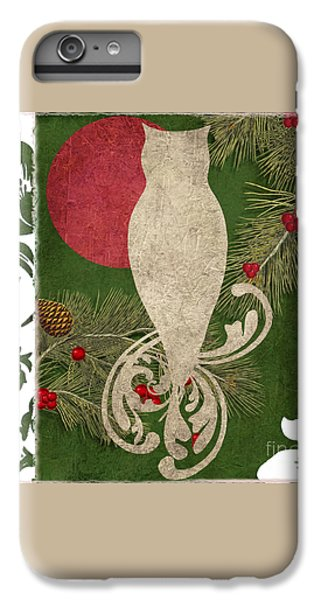 Forest Holiday Christmas Owl IPhone 7 Plus Case by Mindy Sommers