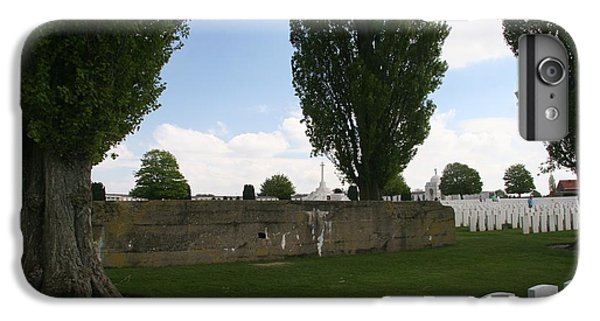 IPhone 7 Plus Case featuring the photograph German Bunker At Tyne Cot Cemetery by Travel Pics