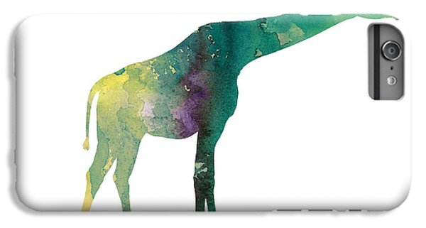 Giraffe Colorful Watercolor Painting IPhone 7 Plus Case by Joanna Szmerdt