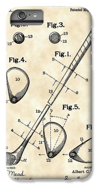 Golf Club Patent 1909 - Vintage IPhone 7 Plus Case by Stephen Younts