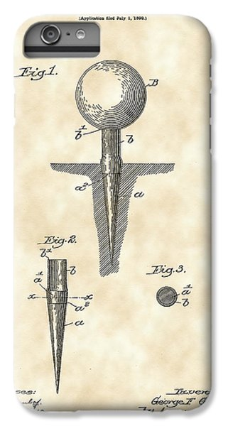 Golf Tee Patent 1899 - Vintage IPhone 7 Plus Case by Stephen Younts