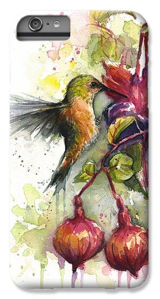 Hummingbird And Fuchsia IPhone 7 Plus Case by Olga Shvartsur