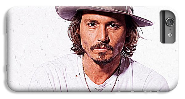 Johnny Depp IPhone 7 Plus Case by Iguanna Espinosa