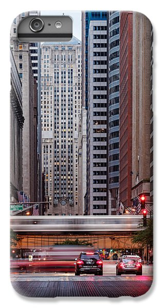 Lasalle Street Canyon With Chicago Board Of Trade Building At The South Side II - Chicago Illinois IPhone 7 Plus Case by Silvio Ligutti