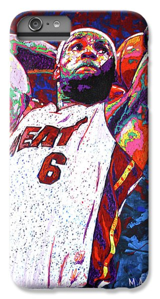 Lebron Dunk IPhone 7 Plus Case by Maria Arango