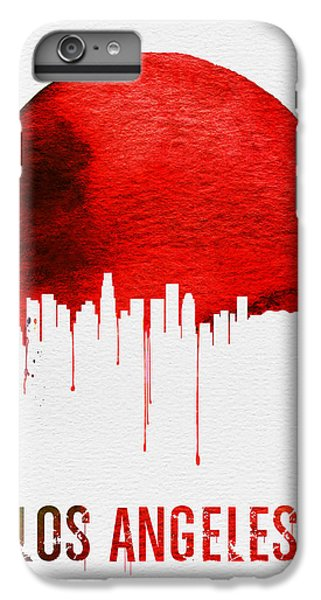 Los Angeles Skyline Red IPhone 7 Plus Case by Naxart Studio