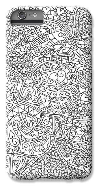 Love And Chrysanthemum Filled Hearts Vertical IPhone 7 Plus Case by Tamara Kulish