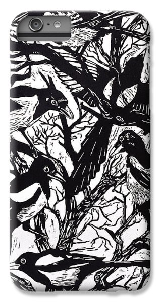 Magpies IPhone 7 Plus Case by Nat Morley