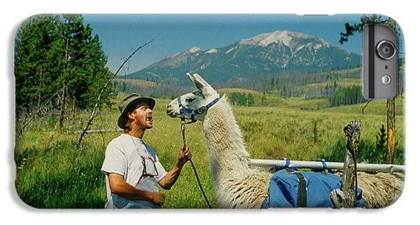 Man Teasing A Llama IPhone 7 Plus Case by Jerry Voss