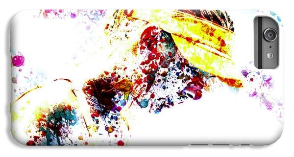 Maria Sharapova Paint Splatter 4p                 IPhone 7 Plus Case by Brian Reaves