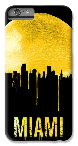 Miami Skyline Yellow IPhone 7 Plus Case by Naxart Studio