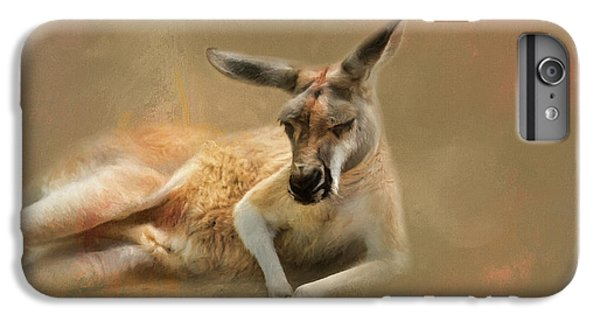 Monday Morning Drowsies Kangaroo Art IPhone 7 Plus Case by Jai Johnson