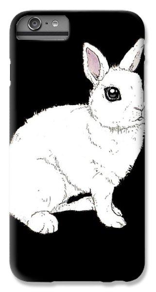 Monochrome Rabbit IPhone 7 Plus Case by Katrina Davis