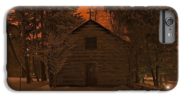 Notre Dame Log Chapel Winter Night IPhone 7 Plus Case by John Stephens