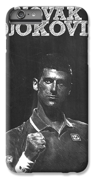 Novak Djokovic IPhone 7 Plus Case by Semih Yurdabak