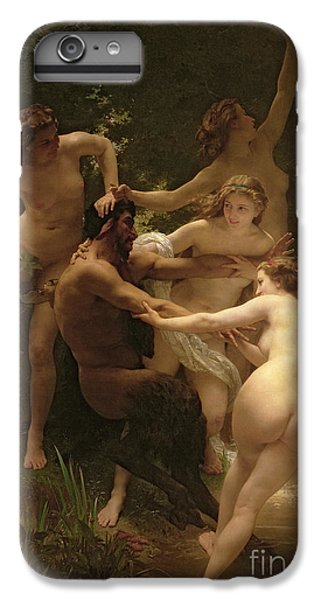 Nymphs And Satyr IPhone 7 Plus Case by William Adolphe Bouguereau
