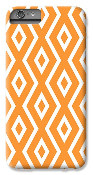 Orange Pattern IPhone 7 Plus Case by Christina Rollo