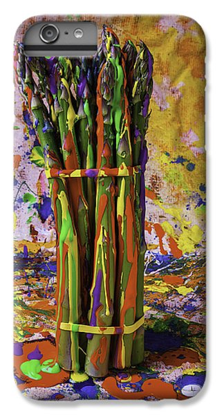Painted Asparagus IPhone 7 Plus Case by Garry Gay