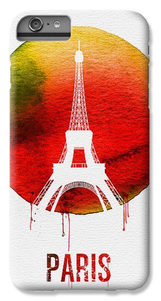 Paris Landmark Red IPhone 7 Plus Case by Naxart Studio