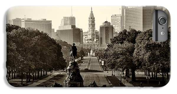 Philadelphia Benjamin Franklin Parkway In Sepia IPhone 7 Plus Case by Bill Cannon