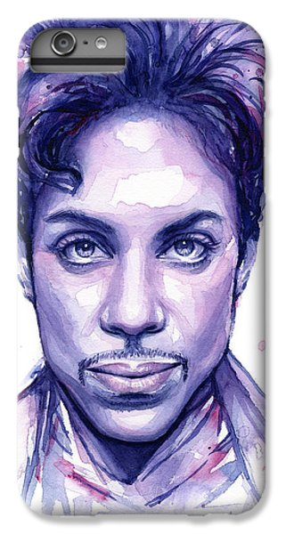 Prince Purple Watercolor IPhone 7 Plus Case by Olga Shvartsur