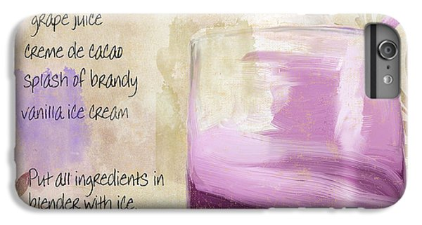 Purple Cow Mixed Cocktail Recipe Sign IPhone 7 Plus Case by Mindy Sommers